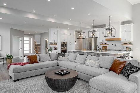 Des Moines Tour of Remodeled Homes Home Remodel White Living Room Open Floor Plan by Compelling Homes Iowa