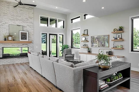 Home Remodel White Open Floor Plan Living Room by Compelling Homes Des Moines Tour of Remodeled Homes