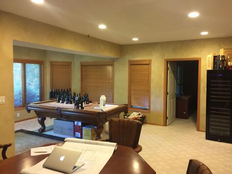 Walk Out Basement Remodel BEFORE Ultimate Remodel with Wine Bar | Compelling Homes D+B