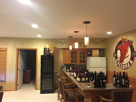 Walk Out Basement Remodel BEFORE Ultimate Remodel with Wine Bar | Compelling Homes Design + Build