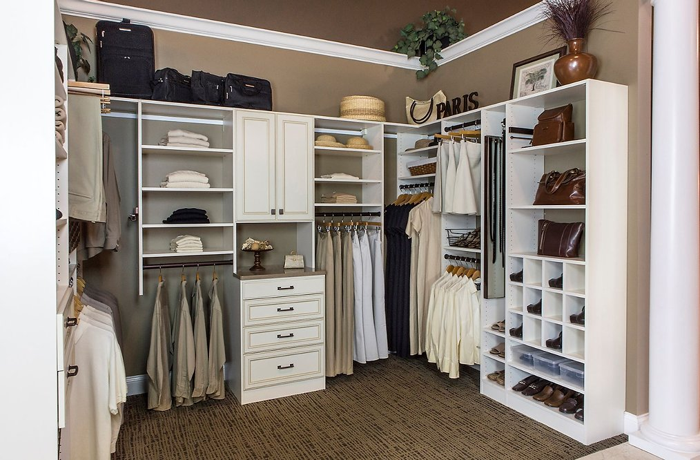 Custom closets and window treatments